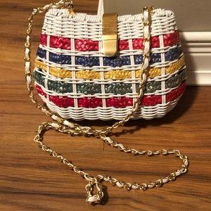 Vintage 80s Benchmade Leatherworks Basket Purse